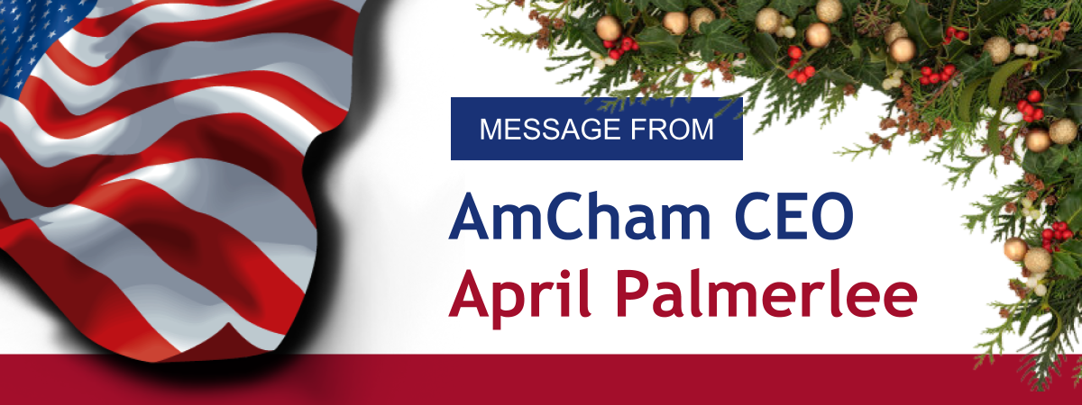 Message From AmCham CEO April Palmerlee